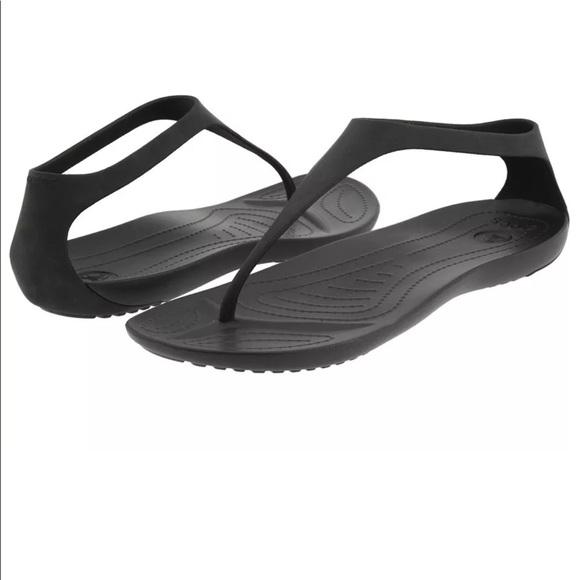d15a6c02bc57 CROCS Shoes - Crocs sexi flip t strap sandals black size 9 women
